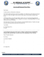 002 – Arrival and Dismissal Time Policy