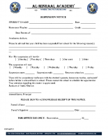 021 – Suspension Notice