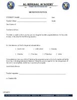 022 – Detention Notice
