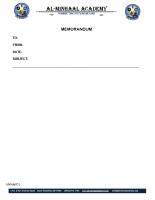 031 – Memorandum