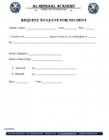 049 – Request to Leave for Student