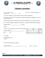 053 – Volunteer Agreement
