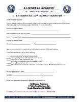 Record Transfer